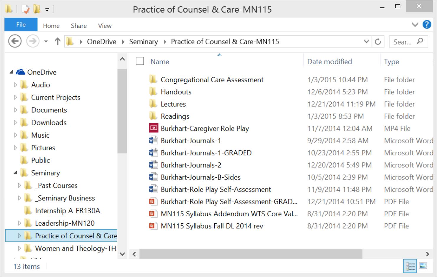 Explorer-Course Folder